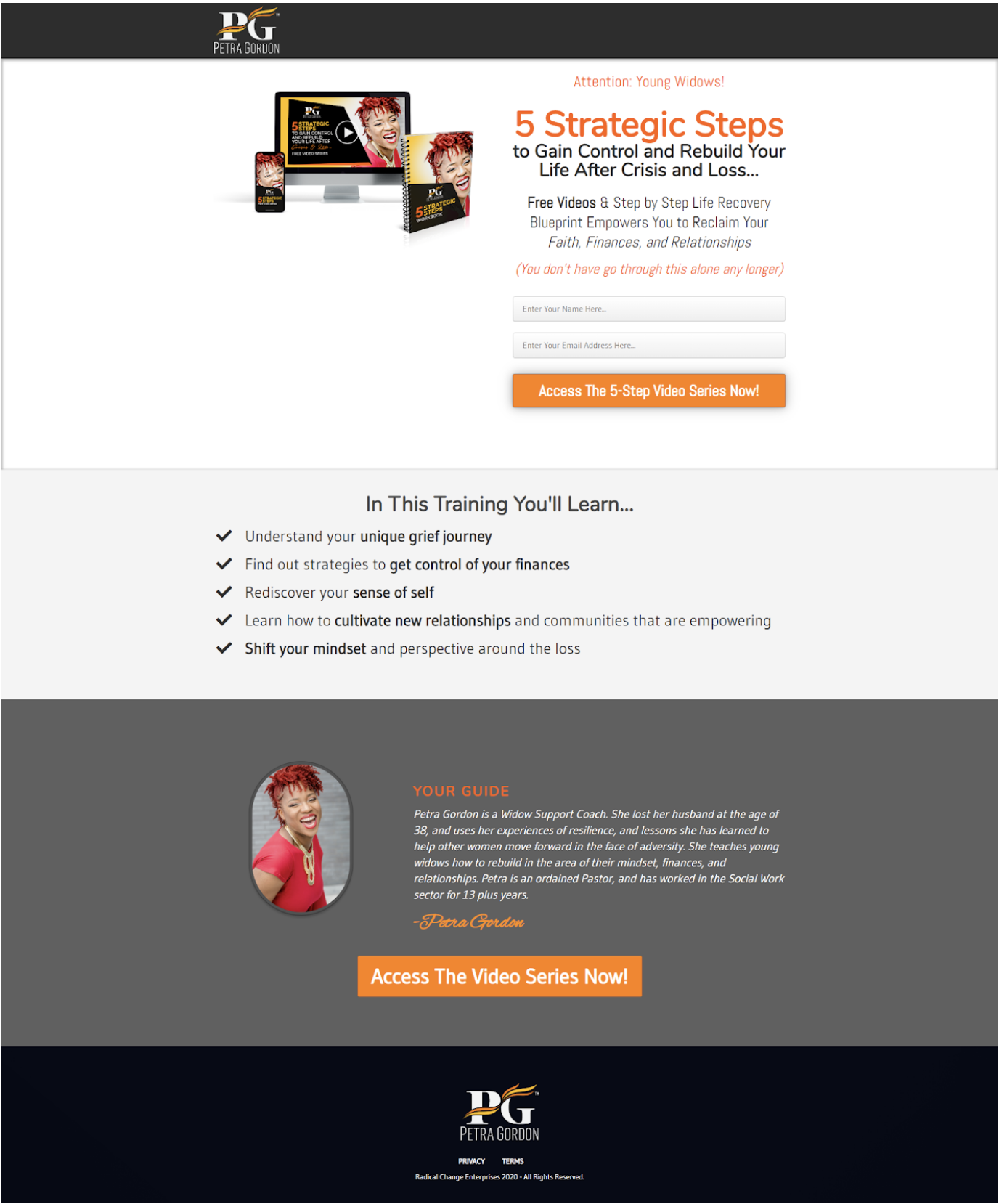 """""""coaching sales funnel opt in page"""""""